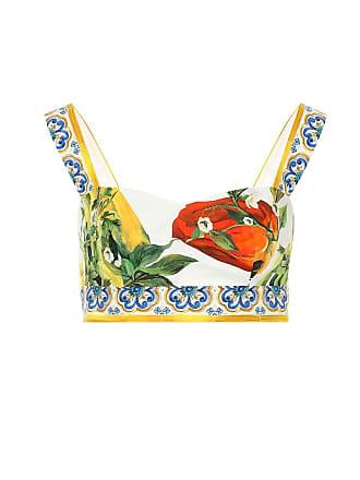 Dolce & Gabbana Printed cotton bralette