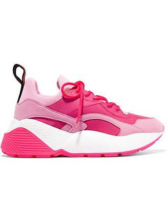 Stella McCartney Eclypse Faux Leather, Faux Suede And Neoprene Sneakers - Pink