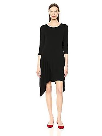 Karen Kane Womens Handkerchief Hem Dress, Black, Extra Small