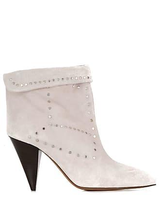 Isabel Marant Ankle boot com aplicação de tachas - Branco