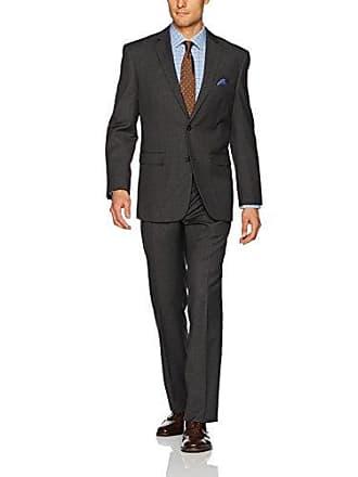 U.S.Polo Association Mens Nested Suit, Dark Grey Glen Plaid, 38 Short