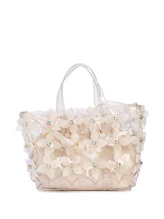 Zac Posen Bolsa Floral Bouquet Shopper - Branco
