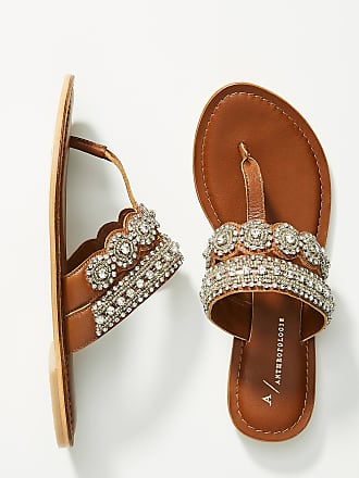 Anthropologie Cressida Embellished Sandals