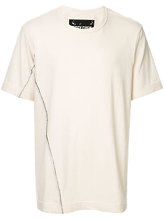 Ziggy Chen distressed detail T-shirt - Metallic