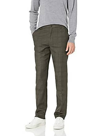Goodthreads Mens Athletic-Fit Wrinkle Free Dress Chino Pant, Olive Glen Plaid 28W x 29L