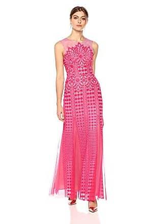 Bcbgmaxazria BCBGMax Azria Womens Elinor Sleeveless Lace Gown, PNKRSBRYCO, 10