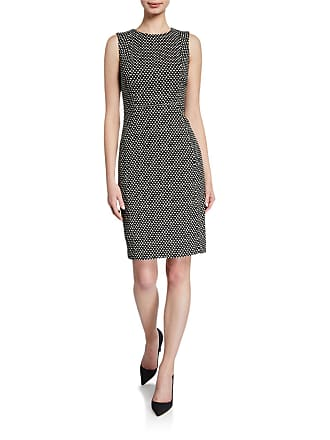 Iconic American Designer Square Dot Sleeveless Sheath Dress