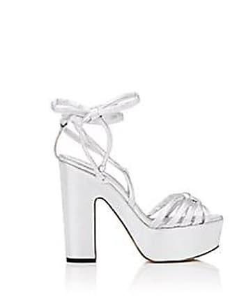41f7226d7f2 Alchimia Di Ballin Womens Tara Leather Ankle-Wrap Platform Sandals - Silver  Size 7.5