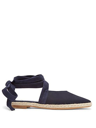 J.W.Anderson Jw Anderson - Wraparound Leather Backless Espadrilles - Womens - Navy