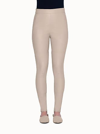 Akris Slim Leg High-Waisted Leather Pants