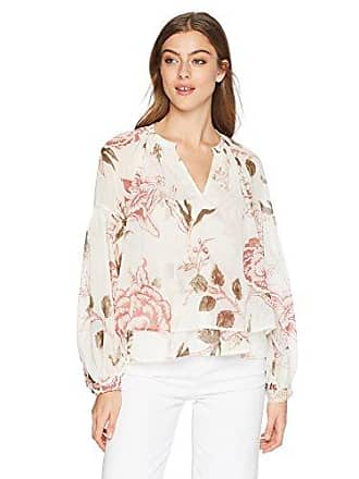 Lucky Brand Womens Jenna Peasant TOP in Natural Multi, L