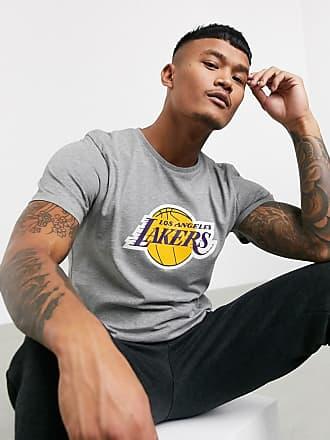 New Era NBA - Graues T-Shirt mit Los Angeles Lakers Wordmark Design