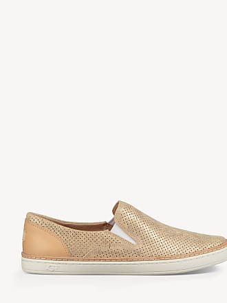 cfbb0d8a6a87 UGG Womens Adley Perf Stardust Slip On Flats Gold Size 7 Leather From Sole  Society
