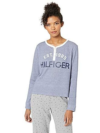 e5b8d5b46690 Tommy Hilfiger Womens Retro Style Crop Sweatshirt Sweater Pullover Top  Lounge Pj