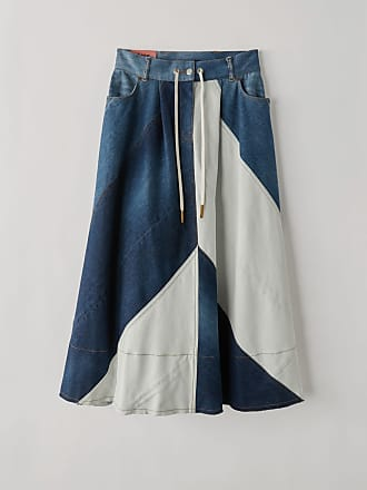 Acne Studios BK-WN-SKIR000021 Indigo blue Patchwork denim skirt