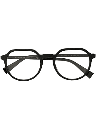 Dolce & Gabbana Eyewear Armação de óculos redonda - Preto