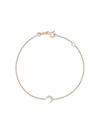 Kismet by Milka Bracelete de ouro rosê 14kt com diamante - Rose Gold