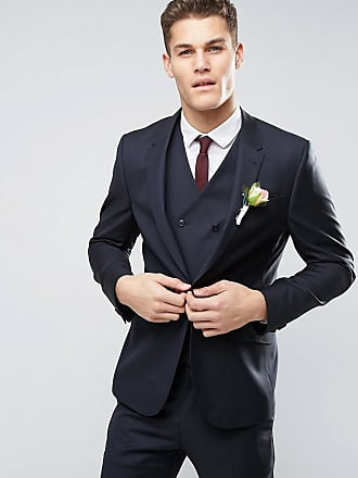 Asos ASOS Wedding - Mörkblå kavaj med smal passform 3aa76e459e375