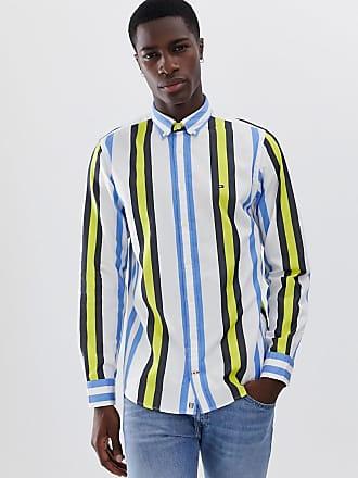 e2b866b0913 Tommy Hilfiger Limited - Blå/flerfärgad skjorta i regular fit med  blockfärgade ränder, button