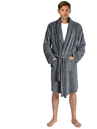 7325aafb8f C D Mens Super Soft Fleece Towelling Bathrobe Luxurious Dressing Gown -  Collared Housecoat with Tie Waistband
