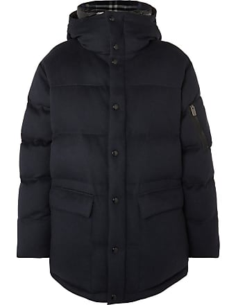 Burberry Quilted Cashmere Hooded Down Jacket - Midnight blue f012c658f4d3