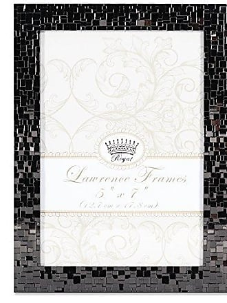 Lawrence Frames Lawrence Royal Designs 5x7 Luxx Faceted Black Metal Picture Frame