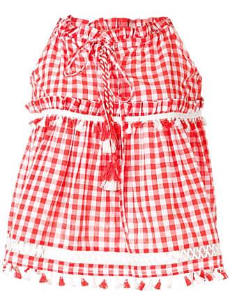Dodo Bar Or Blusa evasê com detalhe de borla - Vermelho