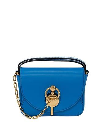 J.W.Anderson Bolsa pochete com detalhe de corrente - Azul