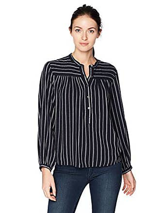 Lucky Brand Womens Stripe Popover, Navy Multi, S