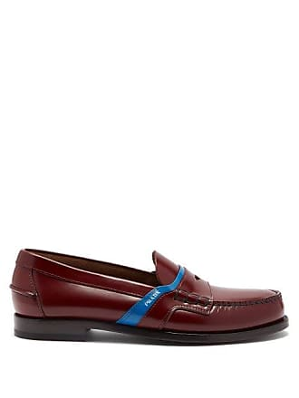 0794930d479 Prada Bi Colour Leather Loafers - Mens - Burgundy