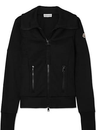 Moncler Striped Jersey Track Jacket - Black