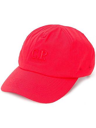 C.P. Company Chapéu com monograma bordado - Vermelho