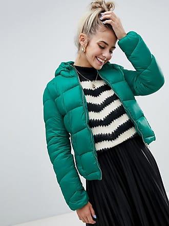 Bershka Piumino verde leggero con cappuccio - Verde 68a2127d351