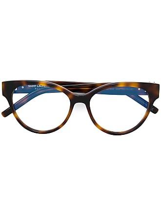 Saint Laurent Eyewear oval shaped glasses - Marrom