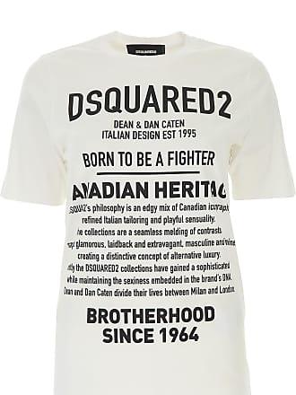 b4b064825f Dsquared2 T-Shirts für Damen, TShirts, Weiss, Baumwolle, 2017, 40