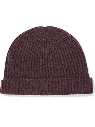 N.Peal N.peal Woman Ribbed Cashmere Beanie Plum Size ONESIZE
