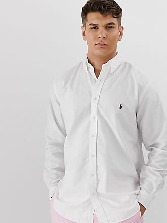 269bc6885 Polo Ralph Lauren big   tall oxford shirt with button down collar in white
