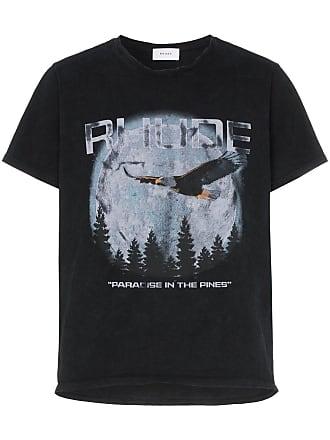 Rhude Camiseta de algodão com estampa gráfica - Preto