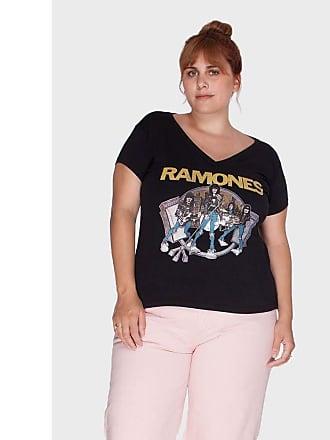 Vintage & Cats Camiseta Ramones Plus Size Preto-46
