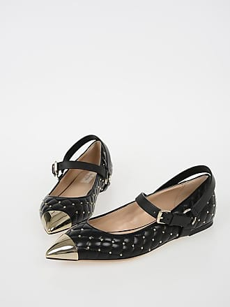 7651084213a Valentino GARAVANI Quilted Leather ROCKSTUD Ballet Flats with Studs size 40