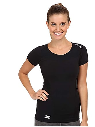 2XU Compression S/S Top (Black/Black) Womens Short Sleeve Pullover