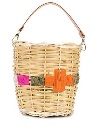 Zeus + Dione Episkopi embroidered woven basket - Neutrals