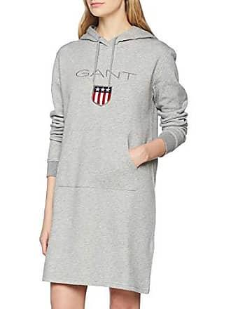 89bec62487 Shield Hoddie Dress, Vestito Donna, Grigio (Grey Melange 93)