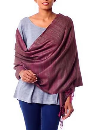 Novica Silk shawl, Holiday Plum