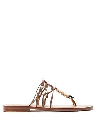 ÁLVARO GONZÁLEZ X Kim Hersov Kima Leather Sandals - Womens - Tan