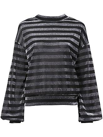 Rta striped lurex sweatshirt - Preto