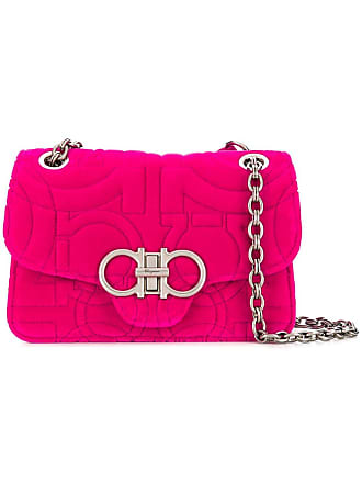 7108f674cb6 Salvatore Ferragamo double gancio foldover flap bag - Pink