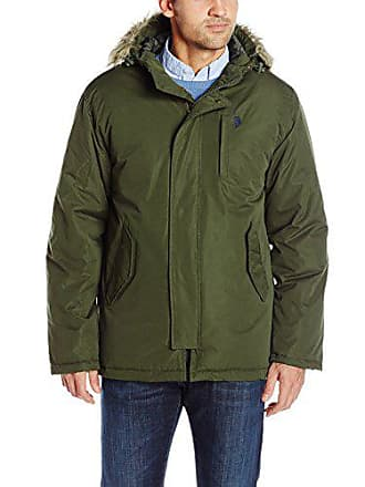 U.S.Polo Association Mens Hooded Parka, Army Green, X-Large