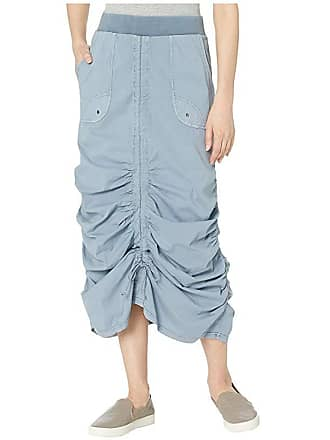 Xcvi Wearables Vintage Skirt in Stretch Poplin (Spry Blue Pigment) Womens Skirt