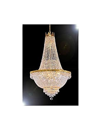 Gallery T22-2727 9 Light 24 Wide Crystal Empire Chandelier Gold